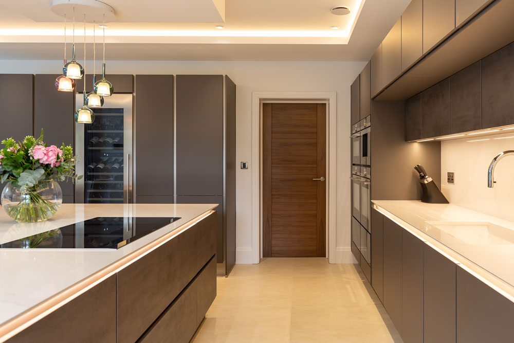 Silestone Eternal Calacatta Gold (cabinetry by Audus Kitchens)