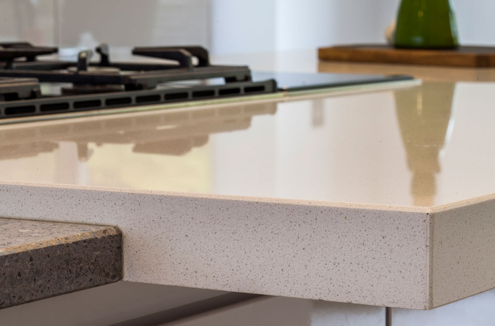 Silestone Chrome and Cimstone Arcadia (cabinetry by ICE:INTERIOR Ltd)