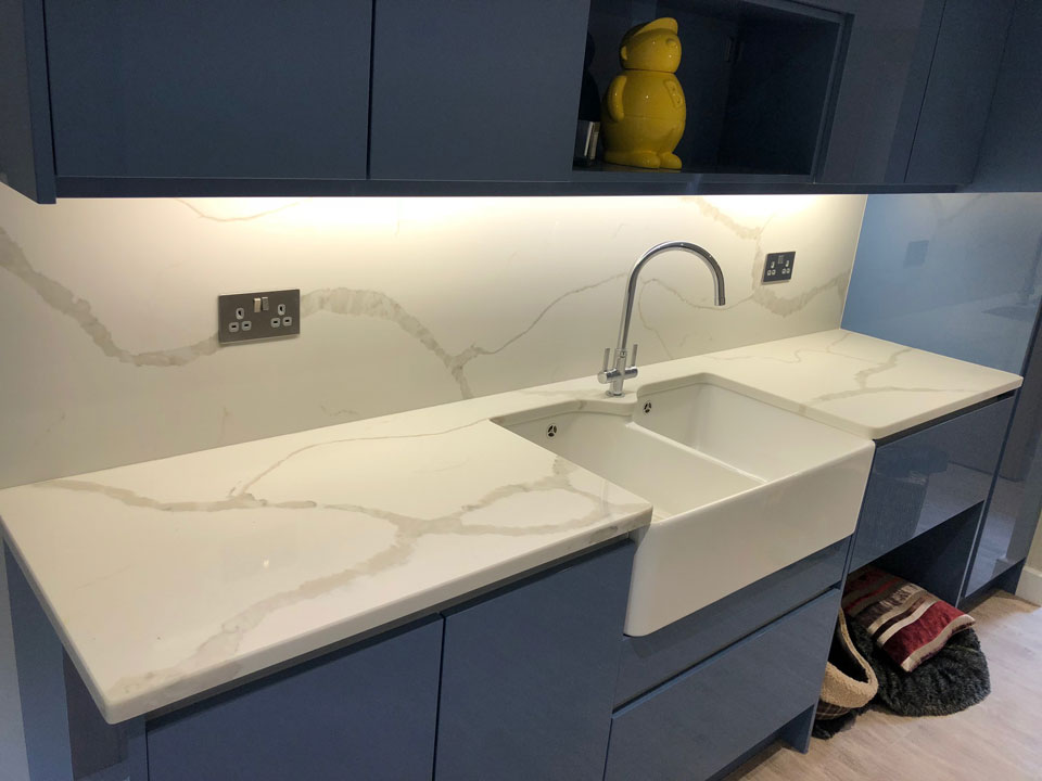 AG Quartz Blanco Calacatta (cabinetry by Paul Rowles Kitchens)