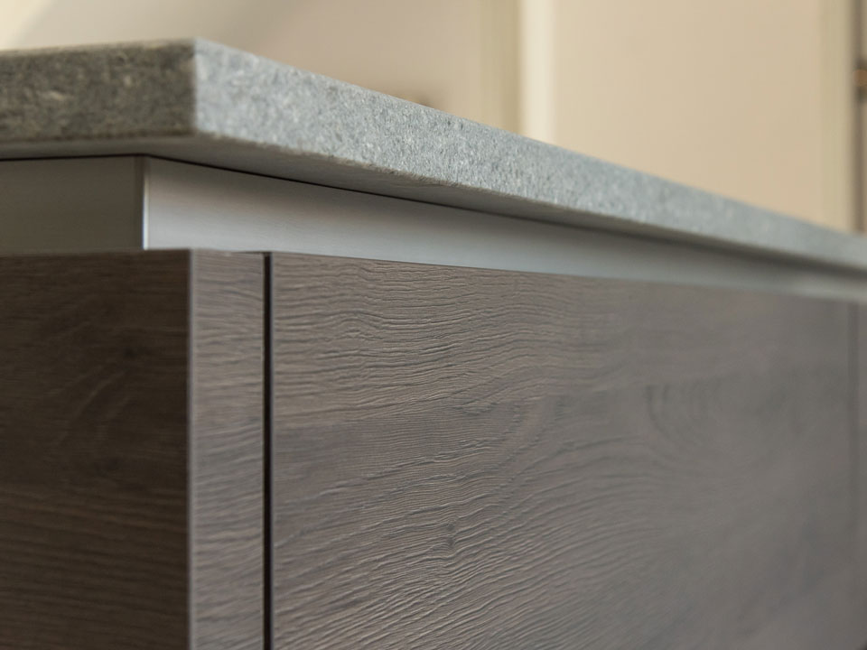 Caesarstone 4033 Rugged Concrete (cabinetry by Audus Kitchens)