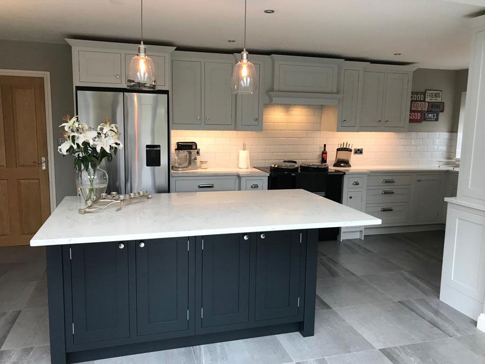 AG Quartz Fusion White (cabinetry by BC Kitchens & Furniture)