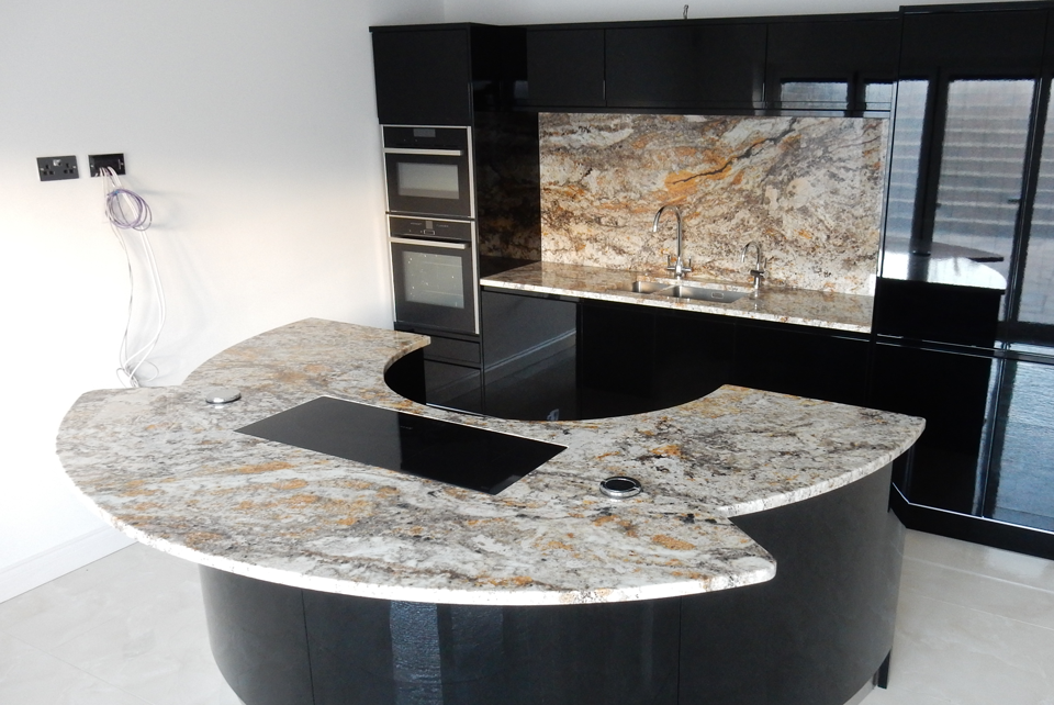 Betularie Granite (cabinetry by Jota Kitchens)